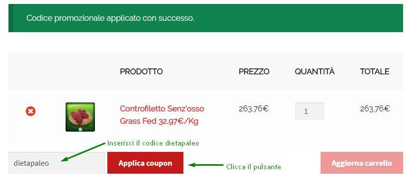 Codice sconto Grass Fed Italia
